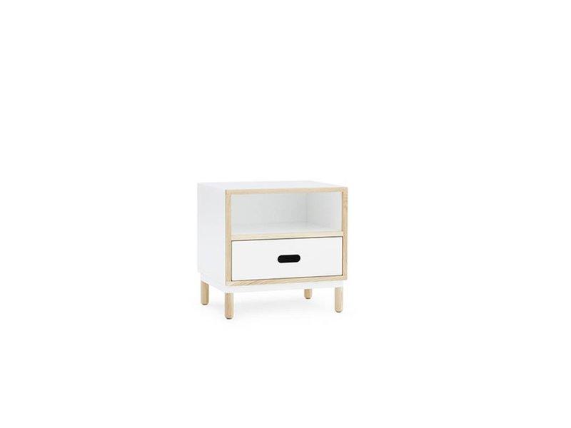 Normann Copenhagen Kabino nachtkastje met lade wit
