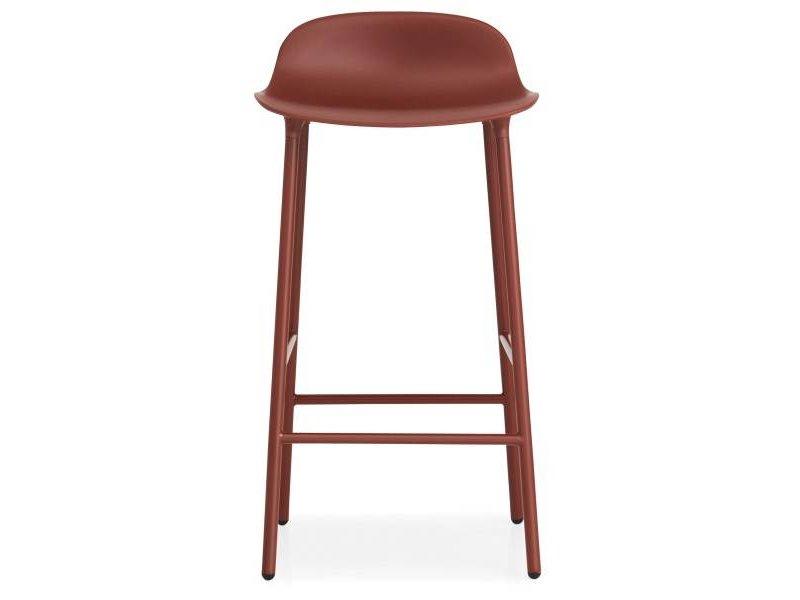 Normann Copenhagen Form Barstoel staal rood
