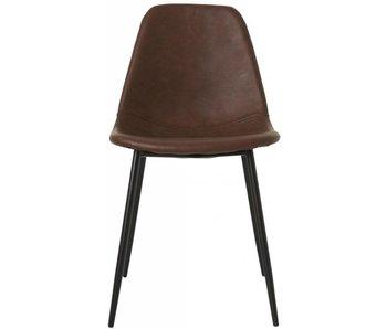 House Doctor Skjemaer brun stol sett 4