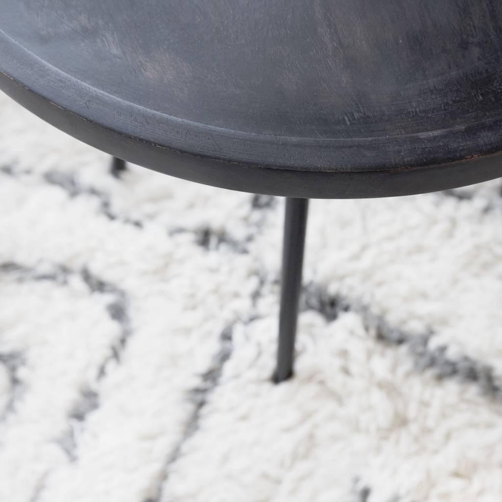 Salontafel Zwart Metaal Met Hout.Juco Salontafel Hout Metaal