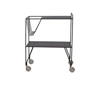 House Doctor Verwenden Trolley schwarz Metall