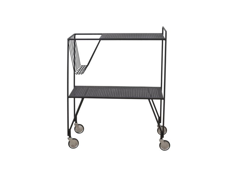 House Doctor Use trolley zwart metaal