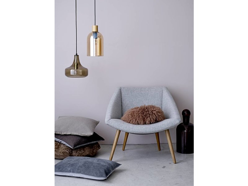 Bloomingville Brun glas hængende lampe