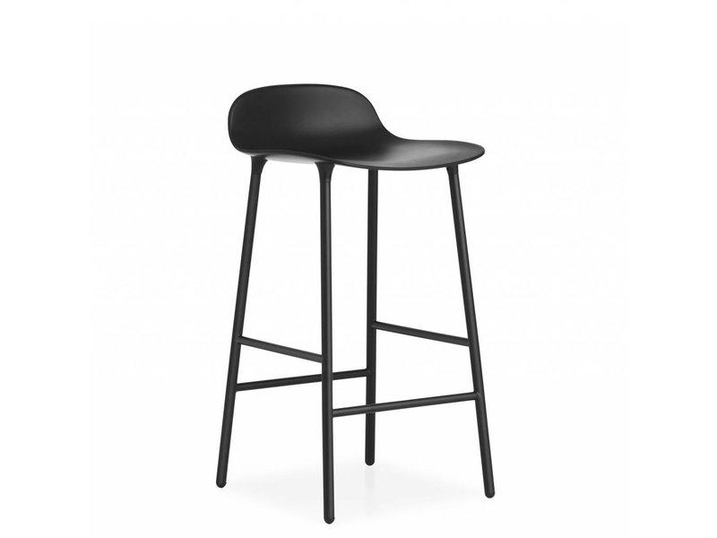 Normann Copenhagen Form Barstoel staal zwart
