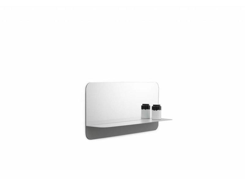 Normann Copenhagen Horizon spiegel met plank horizontaal grijs