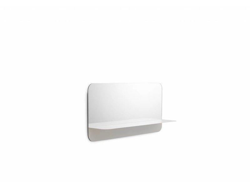 Normann Copenhagen Horizon spiegel met plank horizontaal wit