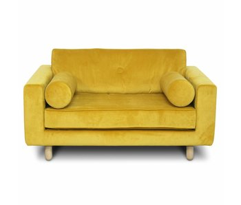 FEST Amsterdam Avenue loveseat fabric Seven 23 yellow velvet