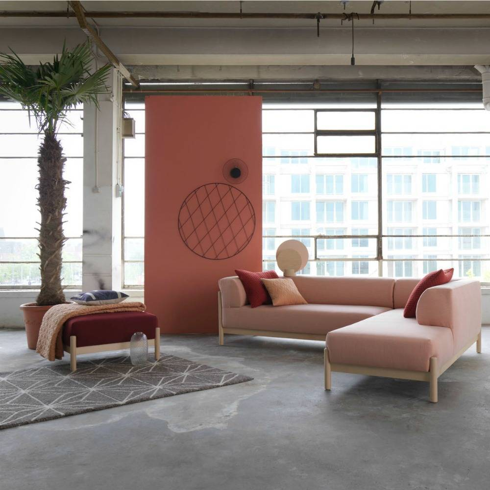 Divano Salotto.Kate Sofa Fabric Kvadrat Steelcut Trio 2 515 Fabric Pink Living