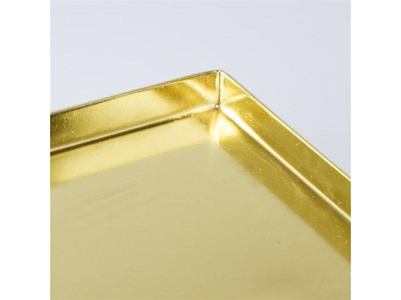 Bloomingville Grid bijzettafel metaal goud look