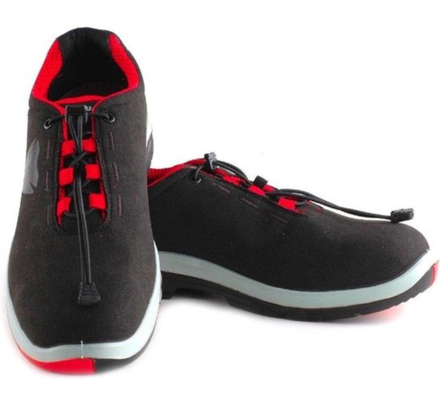 Maxguard Phil Werkschoenen P300 zwart/grijs/rood