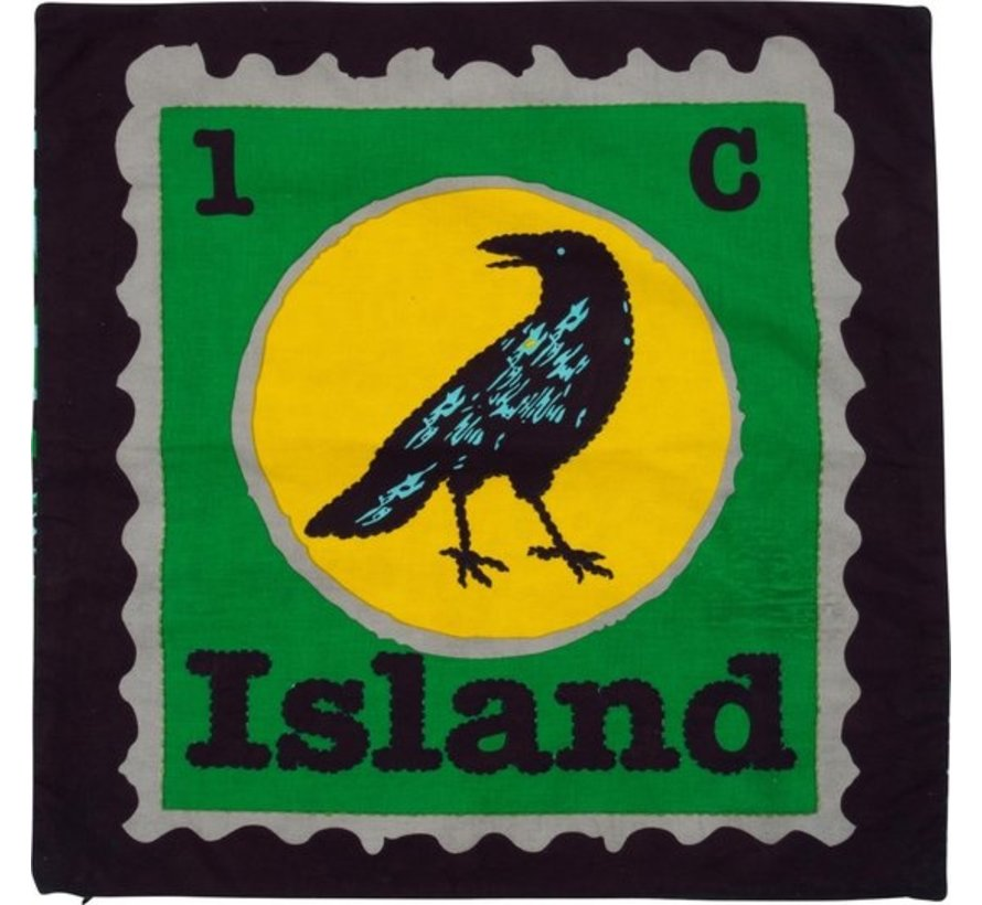CHOKHI STAMPS KUSSENHOES POSTZEGEL ISLAND VOGEL - COLORIQUE