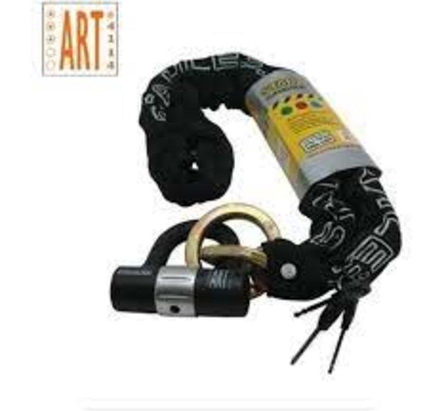 ART 3 GECERTIFICEERD KETTINGSLOT MET HANGSLOT 120 CM LANG DOORSNEE SCHAKELS: 1 CM - STAHLEX