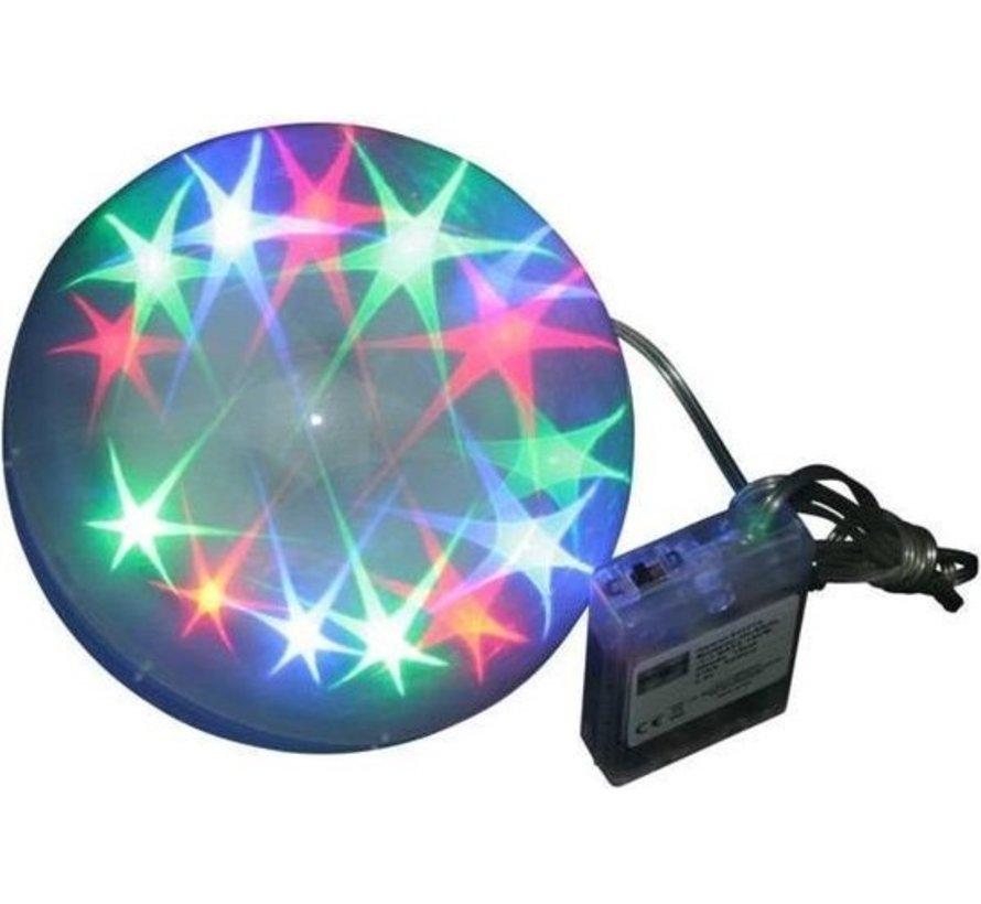 LED BOL - LUCKY STAR 10CM (3X AA) - HÖFFTECH