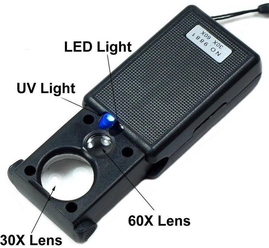 LOUPES/LOEPEN MET LED LICHT & GELD UV DETECTOR - BENSON