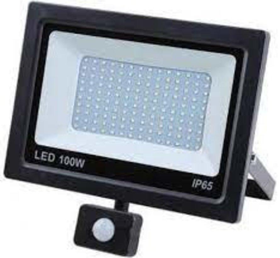 LED STRALER 100W - FLOODLIGHT + BEWEGINGSSENOR - HÖFFTECH