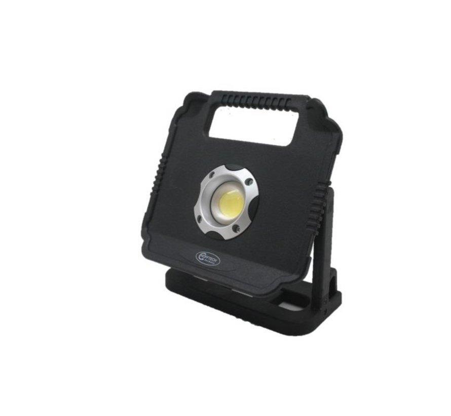 LED BOUWLAMP 10 WATT DAGLICHT - WERKT OP 4 X AA BATTERIJ - HÖFFTECH
