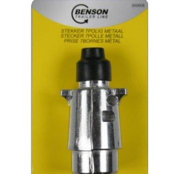 Benson STEKKER 7 POLIG METAAL 12V - BENSON