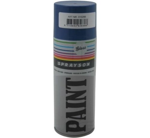 Sprayson SPUITBUS LAK HOOGGLANS RAL 5010 BLAUW 400ML - SPRAYSON