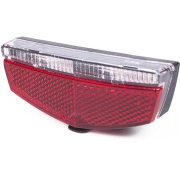 K-Parts LED PRO FIETSACHTERLICHT / STAARTREFLECTOR INCL BATTERIJ - K-PARTS