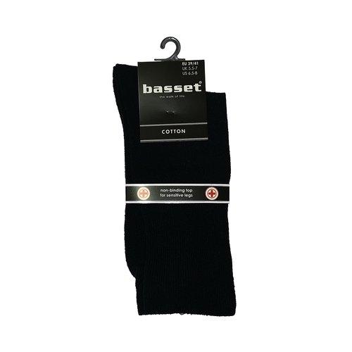 Basset Herensok Basset katoen met boord zonder elastiek