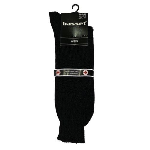 Basset Herensok Basset wol met boord zonder elastiek