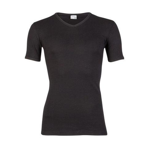 Beeren Heren T-Shirt V-hals en korte mouw M3000 Zwart