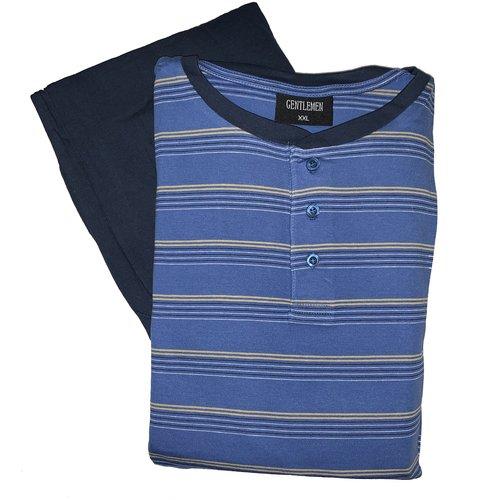 Gentlemen Pyjama Gentlemen tricot knoop blauw
