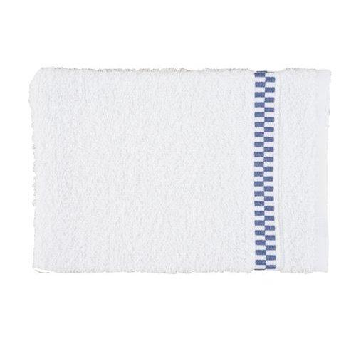 Clarysse Luxe handdoek Blocks Wit + 2 washandjes