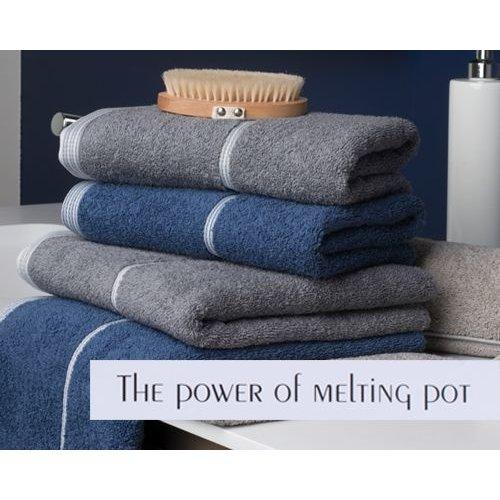 Clarysse Luxe handdoek basics Blauw + 2 washandjes
