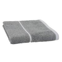 Luxe handdoek basics Grijs + 2 washandjes