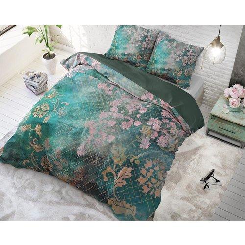 Dreamhouse Dreamhouse Tiran Flower Green Dekbedovertrek