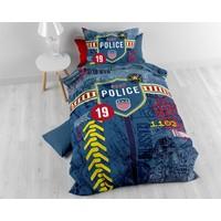 Sleeptime Kids Policeman Blue Dekbedovertrek