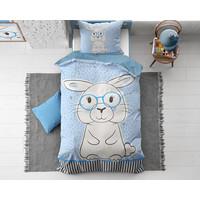 Dreamhouse Kids Rabbit Blue Konijn Dekbedovertrek