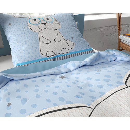 Dreamhouse Dreamhouse Kids Rabbit Blue Konijn Dekbedovertrek
