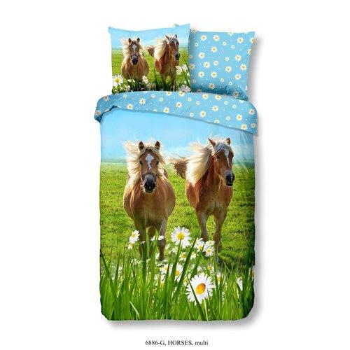 Good Morning Good Morning Kids Horses Dekbedovertrek