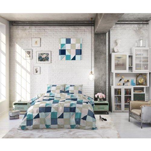 Sleeptime Sleeptime Squares Grey Dekbedovertrek