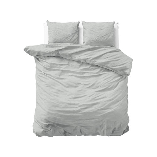 Sleeptime Sleeptime Soft Flanel Jason Grijs Dekbedovertrek