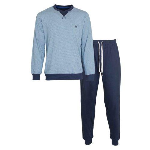 M.E.Q. MEQ Heren Pyjama lichtblauw 2012a