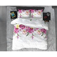 Sleeptime Soft Flanel Love Garden Dekbedovertrek