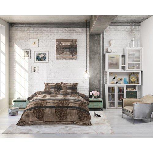 Sleeptime Sleeptime Leaves Elegant Brown Dekbedovertrek