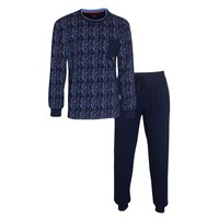 MEQ Heren Pyjama Blauw 1107a
