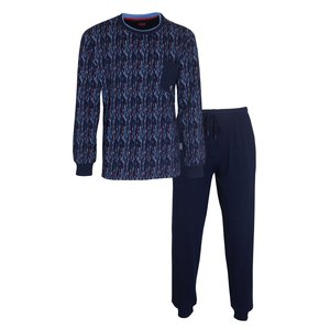M.E.Q. MEQ Heren Pyjama Blauw 1107a