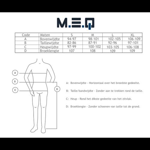 M.E.Q. MEQ Heren Pyjama Blauw met boordjes 1107a