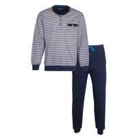 MEQ Heren Pyjama Grijs met boordjes 1102a