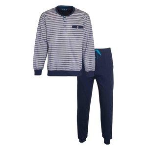 M.E.Q. MEQ Heren Pyjama Grijs met boordjes 1102a