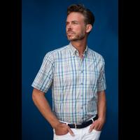 Henderson Overhemd geblokt korte mouw 5437-750