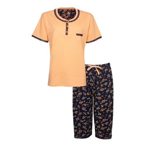 Tenderness Tenderness Dames Pyjama met drie kwart broek Coral