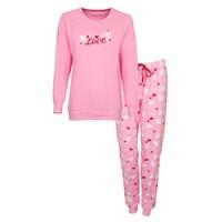 Tenderness Dames Pyjama roze met boordjes 1121a