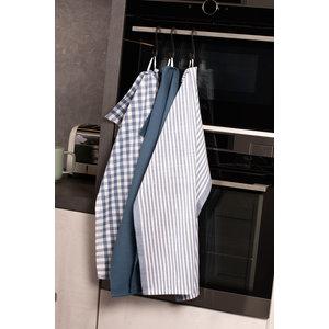 Tiseco Home Studio Tiseco Theedoek stripe/waffle/check (3-pack, Blauw)