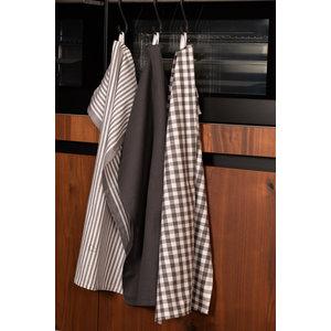 Tiseco Home Studio Tiseco Theedoek stripe/waffle/check (3-pack, Grijs)